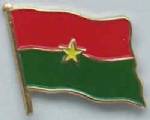 Burkina Faso Country Flag Enamel Pin Badge